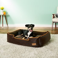 P.L.A.Y. Pet Lifestyle and You Urban Plush Lounge Bed, Orange, Large