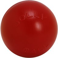 "Jolly Pets 14"" Push-n-Play Dog Toy, Red"