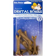Health Extension Peanut Butter Dental Bones Dog Treats, Small, 9-pack