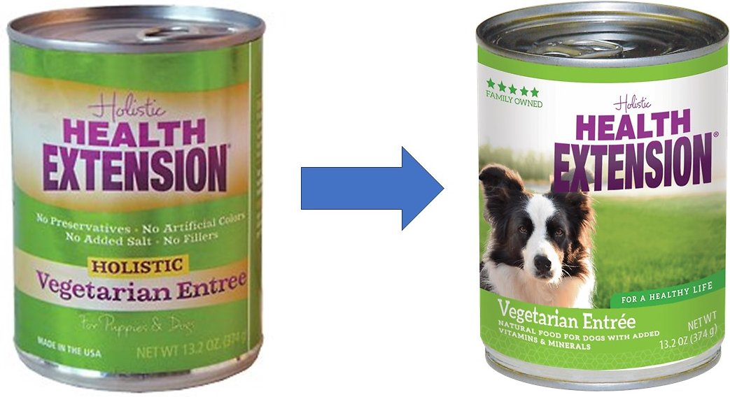 Health Extension Vegetarian Entree Canned Dog Food 13 2 Oz Case Of