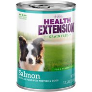 Health Extension Grain-Free Salmon Entree Canned Dog Food, 12.8-oz, case of 12