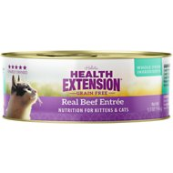 Health Extension Grain-Free Real Beef Entree Canned Cat Food, 5.5-oz, case of 24