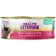Health Extension Grain-Free Real Turkey Entree Canned Cat Food, 5.5-oz, case of 24