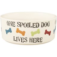 PetRageous Designs One Spoiled Dog Bowl, 5.5-cups