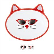 PetRageous Designs Mon Ami Oval Cat Dish, Gigi, 5.3-oz