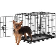 Frisco Fold & Carry Double Door Dog Crate, 22-in