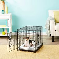 Frisco Fold & Carry Double Door Dog Crate, 24-in