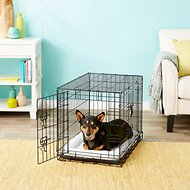 Frisco Fold & Carry Double Door Dog Crate, 30-in