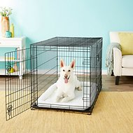 Frisco Fold & Carry Double Door Collapsible Wire Dog Crate, 48 inch