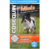 Nutramax Cosequin Maximum Strength with MSM Plus Omega-3's Mini Soft Chews Joint Health Small Dog Supplement