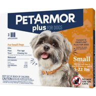 PetArmor Plus Flea & Tick Squeeze-On Treatment for Dogs, 4-22 lbs, 3 treatment