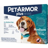 PetArmor Plus Flea & Tick Squeeze-On Treatment for Dogs, 23-44 lbs, 3 treatment