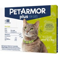 PetArmor Plus Flea & Tick Squeeze-On Treatment for Cats Over 1.5 lbs, 3 count