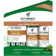 Vet's Best Flea + Tick Total Protection Kit, 3-piece