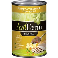 AvoDerm Natural Grain-Free Turkey & Vegetable Stew Recipe Adult & Puppy Canned Dog Food, 12.5-oz, case of 12