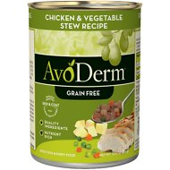 AvoDerm Natural Grain-Free Chicken & Vegetable Stew Recipe Adult & Puppy Canned Dog Food, 12.5-oz, case of 12