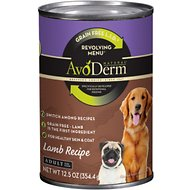 AvoDerm Natural Grain-Free Revolving Menu Lamb Recipe Adult & Puppy Canned Dog Food, 12.5-oz, case of 12