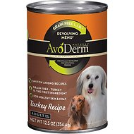 AvoDerm Natural Grain-Free Revolving Menu Turkey Recipe Adult Canned Dog Food, 12.5-oz, case of 12