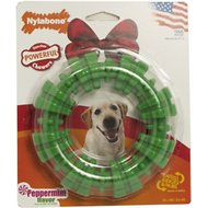 Nylabone Holiday DuraChew Textured Ring Peppermint Flavor Dog Chew Toy, Lagre
