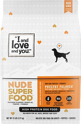 2. I and Love and You Nude Super Food Dry Dog Food