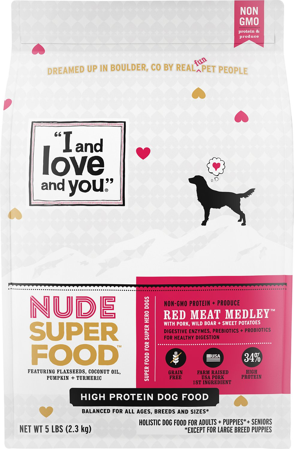I And Love And You Nude Super Food Red Meat Medley Grain Free Dry