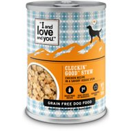 I and Love and You Cluckin' Good Stew Grain-Free Canned Dog Food, 13-oz, case of 12