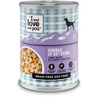 I and Love and You Gobble It Up Stew Grain-Free Canned Dog Food, 13-oz, case of 12
