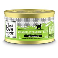 I and Love and You Whascally Wabbit Pate Grain-Free Canned Cat Food, 3-oz, case of 24