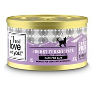 I and Love and You Purrky Turkey Pate Grain-Free Canned Cat Food, 3-oz, case of 24