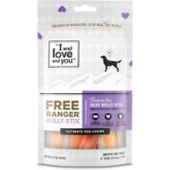 I and Love and You Free Ranger Beef Bully Stix Grain-Free Dog Chews, 6-in, 5 pack