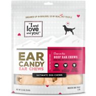 I and Love and You Ear Candy Beef Ear Dog Chews, 5 pack