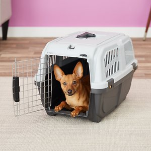 MidWest Skudo Standard Plastic Dog & Cat Kennel, 24-in; Skudo Travel Carriers give your dog, cat, or small mammal a safe and cozy place to retreat. If that wasn\\\'t enough it also serves as a perfect carrier for travel.