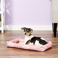 MidWest Paradise Teflon Fabric Protector Pet Bed, Pink Floral, 22-in