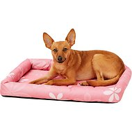 MidWest Paradise Teflon Fabric Protector Pet Bed, Pink Floral, 24-in