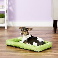 MidWest Paradise Teflon Fabric Protector Pet Bed, Green Floral, 22-inch