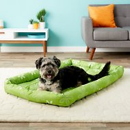 MidWest Paradise Teflon Fabric Protector Pet Bed, Green Floral, 48-in