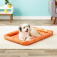 MidWest Paradise Teflon Fabric Protector Pet Bed, Orange Floral, 36-in