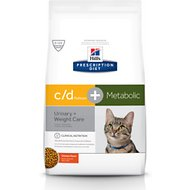 Hill's Prescription Diet c/d Multicare + Metabolic Chicken Flavor Dry Cat Food, 6.35-lb bag