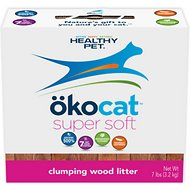Okocat Super Soft Clumping Wood Cat Litter, 7-lb box