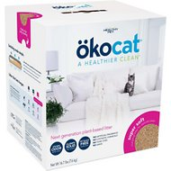 Okocat Super Soft Clumping Wood Cat Litter, 16.7-lb box