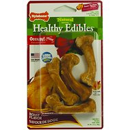 Nylabone Holiday Healthy Edibles Roast Turkey Flavor Dog Bone Treats, Small 4 count