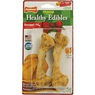 Nylabone Holiday Healthy Edibles Roast Turkey Flavor Dog Bone Treats, Medium 2 count