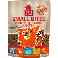 Plato Small Bites Organic Chicken Dog Treats, 10.5-oz bag