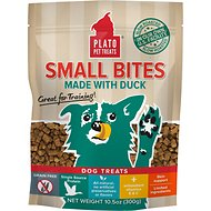 Plato Small Bites Slow Roasted Duck Dog Treats, 10.5-oz bag