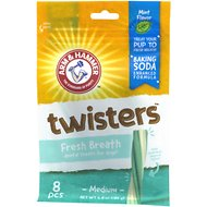 Arm & Hammer Dental Twisters Fresh Breath Dog Chews, 8 count
