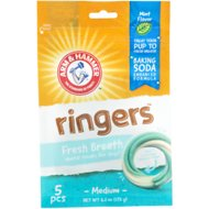 Arm & Hammer Dental Ringers Fresh Breath Dog Chews, 5 count