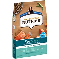 Rachael Ray Nutrish Zero Grain Natural Salmon & Sweet Potato Recipe Grain-Free Dry Dog Food, 23-lb bag