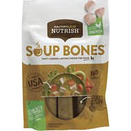 Rachael Ray Nutrish Soup Bones Chicken & Veggies Flavor Dog Treats, 12.6-oz bag