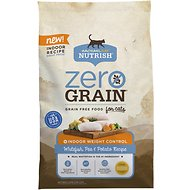 Rachael Ray Nutrish Zero Grain Indoor Weight Control Whitefish, Peas & Potato Recipe Grain-Free Dry Cat Food, 12-lb bag