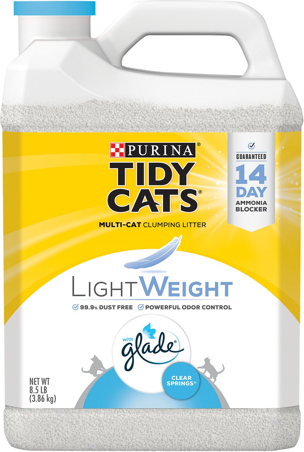 2 x 20 lb Tidy Cats Clear Springs Scoop Multiple Cat Clumping Litter 40 lb